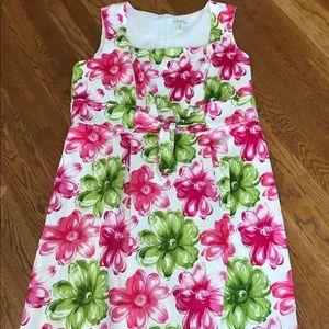 Kim Rogers knee length floral print dress